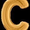 Buchstabe C in Gold