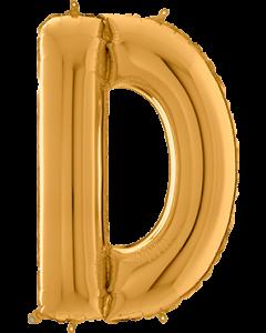 Buchstabe D in Gold