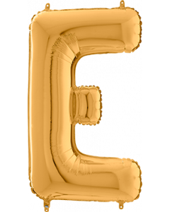 Buchstabe E in Gold