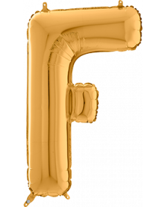 Buchstabe F in Gold