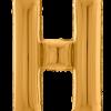 Buchstabe H in Gold