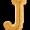 Buchstabe J in Gold
