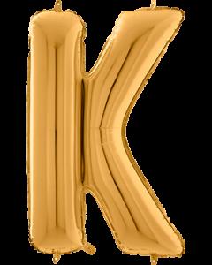 Buchstabe K in Gold