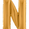 Buchstabe N in Gold