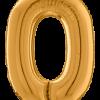 Buchstabe O in Gold