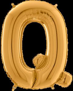 Buchstabe Q in Gold