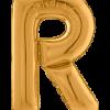 Buchstabe R in Gold
