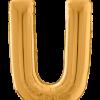 Buchstabe U in Gold