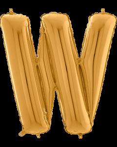 Buchstabe W in Gold
