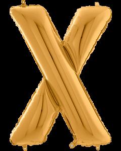 Buchstabe X in Gold