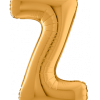 Buchstabe Z in Gold