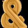 Buchstabe & in Gold