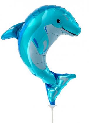 Folienballon, Delphin Luftgefüllt