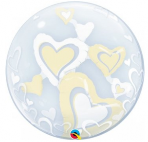 Double Bubble mit Herzen