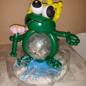 Frosch mit Geld im Bauch (Geldgeschenk)
