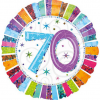 Folienballon zum 70. Geburtstag