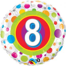 Folienballon zum 8. Geburtstag