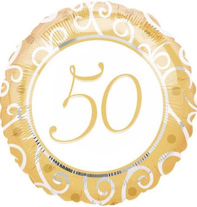 Folienballon, Geburtstagszahl 50