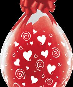 Geschenkballon-Mit Herzen
