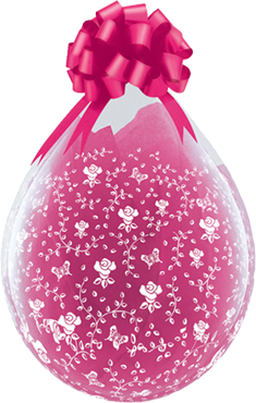 Geschenkballon-Mit Rosen