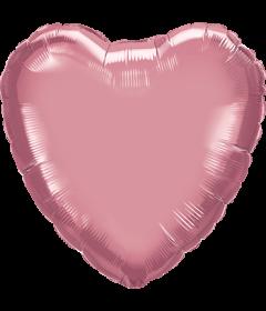 Folienballon Herz in Chrome Mauve