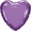 Folienballon Herz Chrome Lila