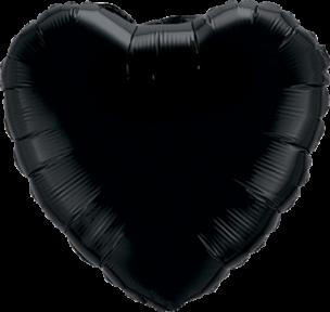 Folienballon Herz in der Farbe Schwarz