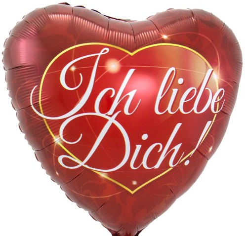 Folienballon, Herz ich liebe dich
