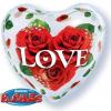 "Folienballon, Herz, ""Love"""