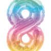 Kleine Zahl Acht in Regenbogenfarben