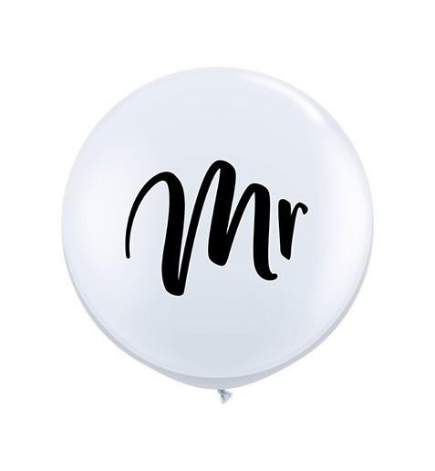Zur Hochzeit Latex Ballon mit der Aufschrift Mr