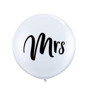 Zur Hochzeit Latex Ballon mit der Aufschrift Mrs