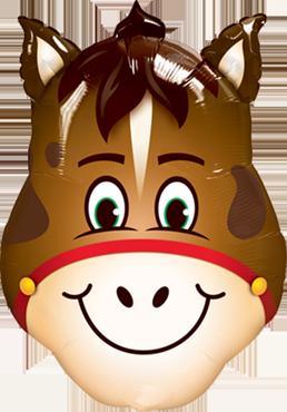Folienballon Pferdekopf, Pferd