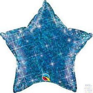 Holographischer Stern in Blau
