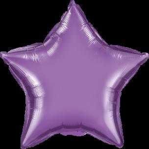Folienballon Herz in der Farbe Chrome Lila