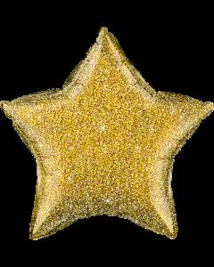 Holographischer Stern in Gold
