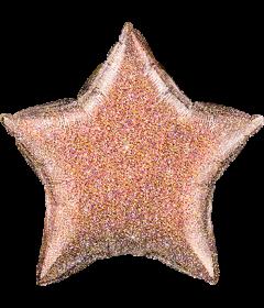 Holographischer Stern in Rose Golde