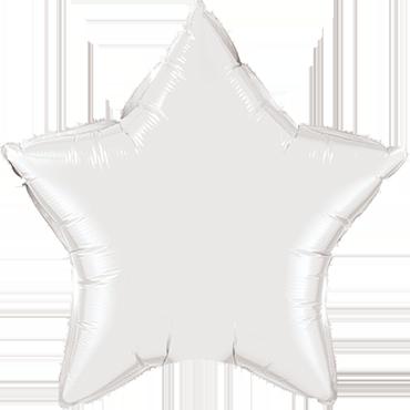 Folienballon Stern in Weiß