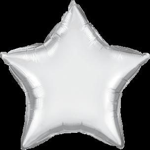 Folienballon Stern in Silber